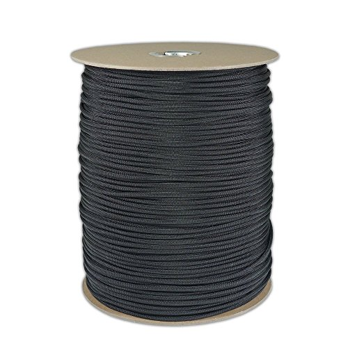 (Wholesale 1000 Foot 550 LB Paracord Spools Type III 7 Strand Twisted Inner Cord Parachute Cord with 550 Pound Test Minimum Break Tensile Strength - Authentic 550Cord In Variety of Colors ( Black, White, Olive Drab or OD Green, White, Neon Orange, Neon Green, Royal Blue, Imperial Red, Acid Purple, Yellow, Neon Pink, Woodland Camo ) Save More & Buy By The Spool!)