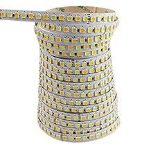 LEDENET® Supper Bright 2800K-7000K Bi-colored Dual White Warm Cold Cool Color Temperature Adjustable Flexible 5050 LED Strip Light 24V 600LEDs Non-waterproof Ribbon Lamp 16.4ft (5m)