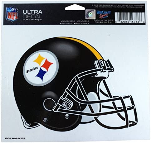 """PITTSBURGH STEELERS ROUND LARGE DECAL STICKER 16/""""x 16/"""" ANY 1 COLOR"""