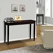 Yaheetech Wood Console Table Hall table with one Drawer Espresso