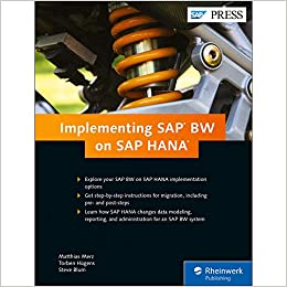 Buy Implementing SAP BW on SAP HANA Book Online at Low