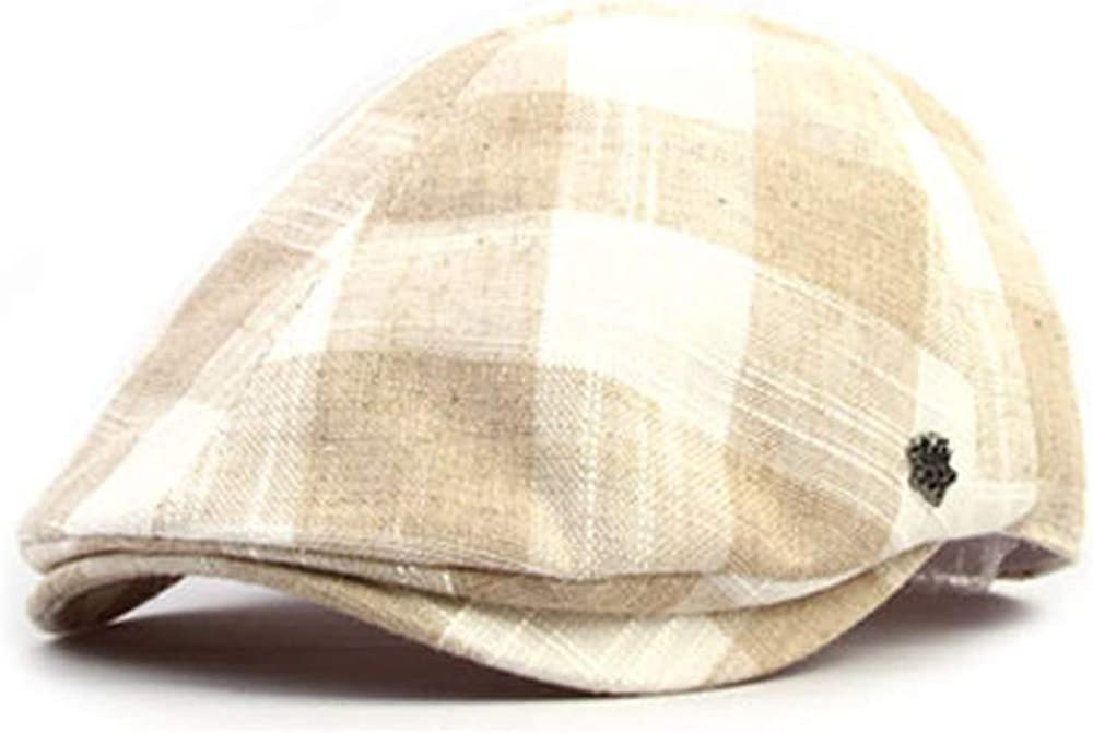WITHMOONS Mens Flat Cap Gingham Checks Plaid Ivy Hat SL3791