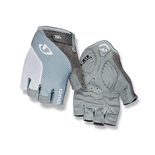 (Giro Strada Massa Gel Road Bike Gloves Titanium/Gray White L)