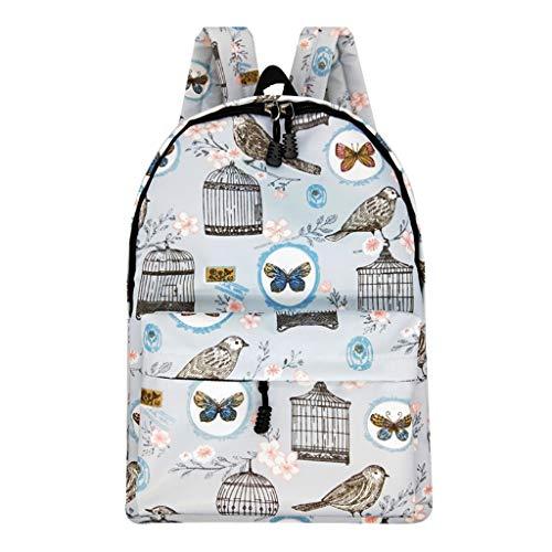 Zlolia Cartoon Print Stylish Girls School Backpack Bookbags College Bags Travel Bag ()