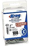 Kreg SML-C1-100 Pocket Screws - 1-Inch, 8 Coarse, Washer-Head, 100ct