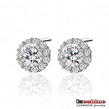 Fashion Area Jewelry Tiny Earring Studs Fashion Flower Shaped Cz Stone Earrings 6Mm 0.75Ct Swiss Cubic Zirconia Diamond Flower Earrings Cer0033-B