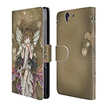 Official Meredith Dillman Gear And Glass Fairy Leather Book Wallet Case Cover For Sony Xperia Z3+ / Z3 Plus / Z4