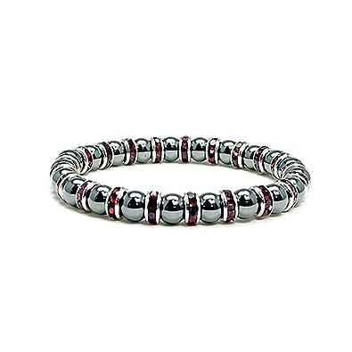 Accents Kingdom Women's Magnetic Hematite Tuchi Simulated Pearl Bracelet vDzRFWn2W
