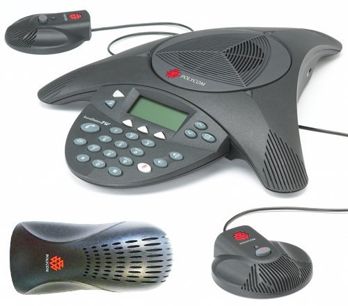 Polycom SoundStation 2 EX with 2 Mics Included (2200-16200-001)+(2200-16155-001) (Renewed)