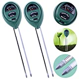 Kuman 2 Packs 3-in-1 Soil Moisture Meter, Light and PH Acidity Tester Plant Tester Indoor Outdoor Soil Moisture Sensor Meter Plant Care Hygrometer Water Monitor for Garden Farm Lawn KP01