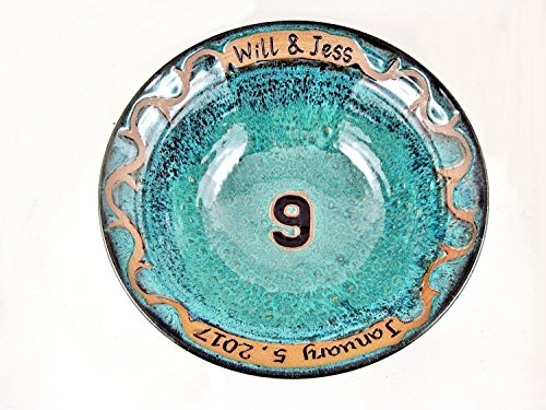 Personalized Ninth Anniversary Gift, Handmade serving bowl