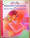 Assessment Item Listing for Biology, Holt, Rinehart and Winston Staff, 0030515173