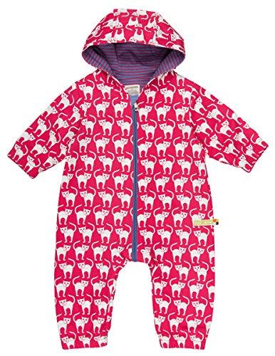 loud + proud Unisex Baby Schneeanzug Wasserabweisender Overall, Rot (Purple Pu), 80 (Herstellergröße: 74/80)