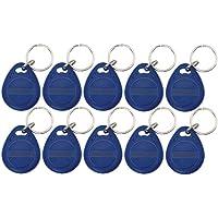 Nivian - 10 Llaveros Tag de proximidad RFID 125KHz -Fabricado en PVC - Color Azul