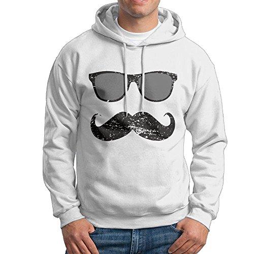 ZhiqianDF Men Incognito Boy - Funny Mustache and Sunglasses Funny Sports White Sweater - Sunglasses Cardinals Az