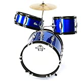 Kaizer Junior Kids Drum Set 3 pc Blue Metallic JDRMS3-1000BL