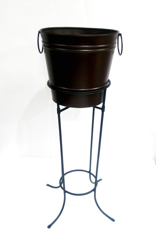 MG Decor MGD78633-PI Multi-Purpose Planter/Beverage tub with drip pan Stand