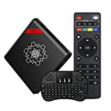 Seetwo CQ7 Android TV BOX Amlogic S905X Quad Core ARM Cortex A53 CPU @2.0 GHz Smart TV Box Android 6.0 Mini PC 4K 1G 8G WiFi Box[With Free Wireless Keyboard]