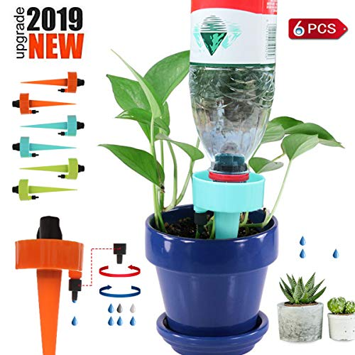 DORARA Plant Self Watering Spikes System Slow Release Control Valve Switch, Automatic Vacation Plant Irrigation Watering Drip Devices,Self Irrigation Watering Drip Devices,Anti-Tilt Anti-Fall Design (Best Irrigation Controller 2019)