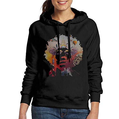 XJBD Women's Jimi Hendrix Hoodies Black Size - Hendrix Sunglasses