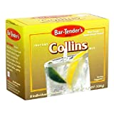 Bar-Tender's Instant Tom Collins Mix, 8-Count 4.7-Ounce Boxes (Pack of 12)