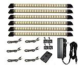 Designer Series - 18'' Warm White 6 LED Panels - 1 Power Supply - 1 Dimmer