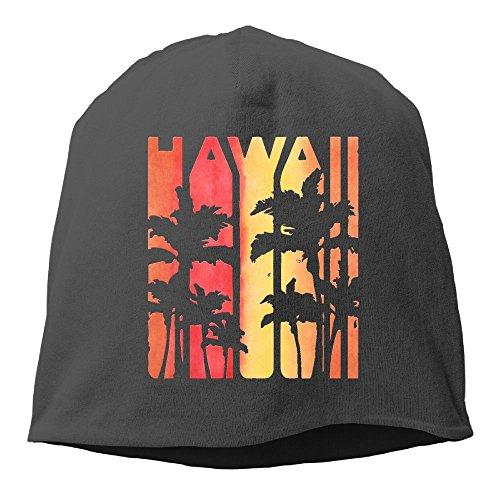 XVintageSkullCap Hawaiian Islands Hawaii Aloha State Women/Men Wool Hat Soft Stretch Beanies Skull Cap Unisex
