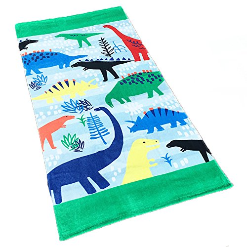 Rosemaryusid Child Cotton Carton Bath Towel Adult Beach Toweling 160x80cm Many Dinosaur