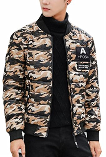 Coat Jacket Camouflage Down Khaki Puffer Warm Printed Mens UK Winter today Padded qE8vTvw