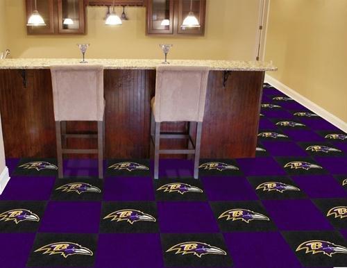 Fanmats Tiles - Fanmats Baltimore Ravens Team Carpet Tiles