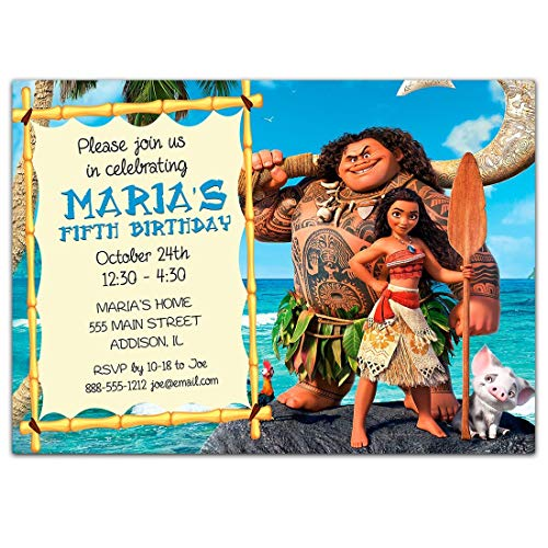 Amazon Moana Birthday Party Invitations Handmade