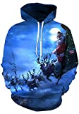 Leapparel Unisex Colourful 3D Pullover Hoodie Sweatshirt For Men and Women Cool Graphic Prints Sweater With Big Pocket