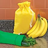 Image: Banana Bag and Celery Bag Combo - Keep Bananas, Celery, Cucumber and Other Veggies Fresh for 2 Weeks!