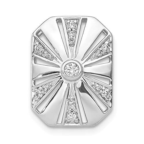 (Jewelry Pendants & Charms Slides 14k White Gold Diamond Vintage Chain Slide)