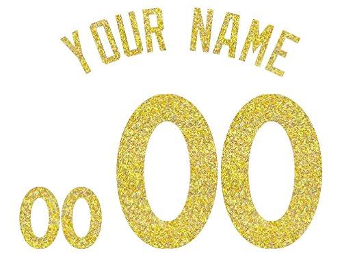 Jersey Lettering Kit - Custom Glitter, Glow in Dark, Metallic, Reflective, Hologram Vinyl Iron-on Transfer Shirt Name and Number Kits for Custom Soccer, Basketball and Baseball Jerseys,Shirts,Clothing (Hologram)