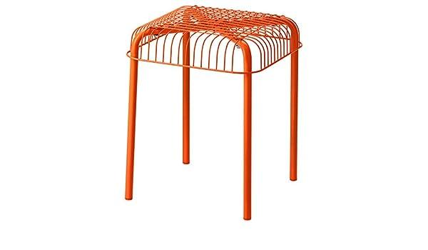 Zigzag Trading Ltd IKEA VASTERON - Taburete, en Orange/Exterior ...