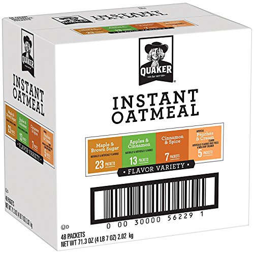 Total Fiber System - Quaker Instant Oatmeal Variety Pack, Breakfast Cereal, 48 Count
