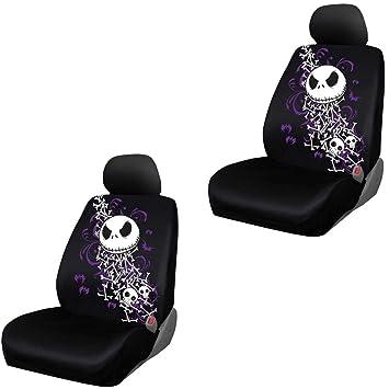 Wondrous Amazon Com Jack Skellington Bones Low Back Seat Cover Pair Machost Co Dining Chair Design Ideas Machostcouk