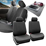 2008 mitsubishi eclipse key cover - FH GROUP FH-FB052102 Multifunctional Flat Cloth Bucket Car Seat Covers Charcoal Color,(Airbag Compatible) w. FH1002 Non-slip Dash Grip Pad- Fit Most Car, Truck, Suv, or Van