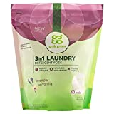 Grab Green 3-in-1 Laundry Detergent Pods, 60 Load Biggie Pouch, Lavender with Vanilla