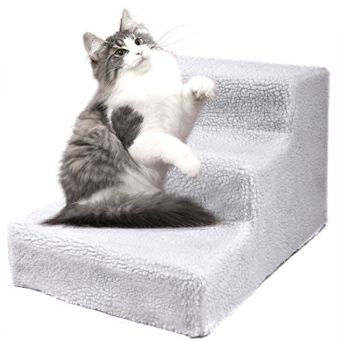 Kitty Scratching Ramp (totoshoppet Dog Pet Stairs Steps Indoor Ramp Portable Folding Animal Cat Ladder with Cover)