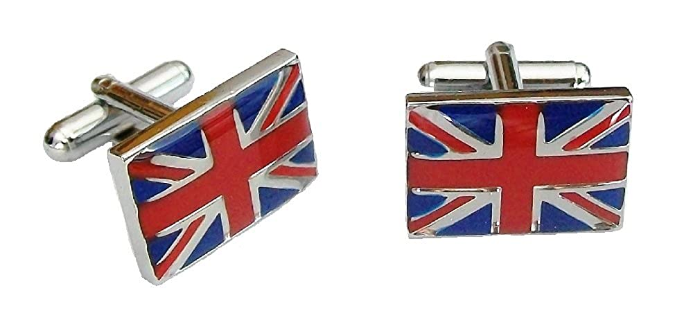 British Flag Union Jack Clip on Charm with Red Gift Bag FREE P/&P