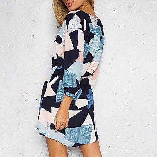 CanVivi Strandkleider Elegant Kleider V Ausschnitt Vintage Frauen Kleider Bluse