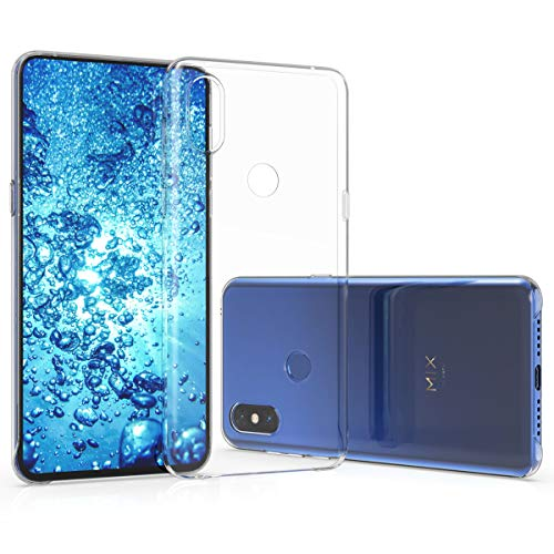 kwmobile Crystal Case for Xiaomi Mi Mix 3 - Hard Durable Transparent Protective Cover - ()