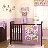 CoCo and Company Owl Wonderland 4 Piece Crib Bedding Set, Baby & Kids Zone