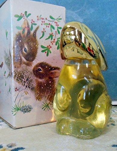 "Avon""Snow Bunny"" Rabbit Figural Decanter Sweet Honesty Cologne 3oz."