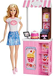 Barbie Mattel Careers Bakery Shop Playset With Blonde Doll
