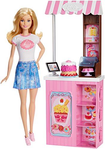 Barbie Mattel Careers Bakery Shop Playset with Blonde - Playset Barbie Bakery