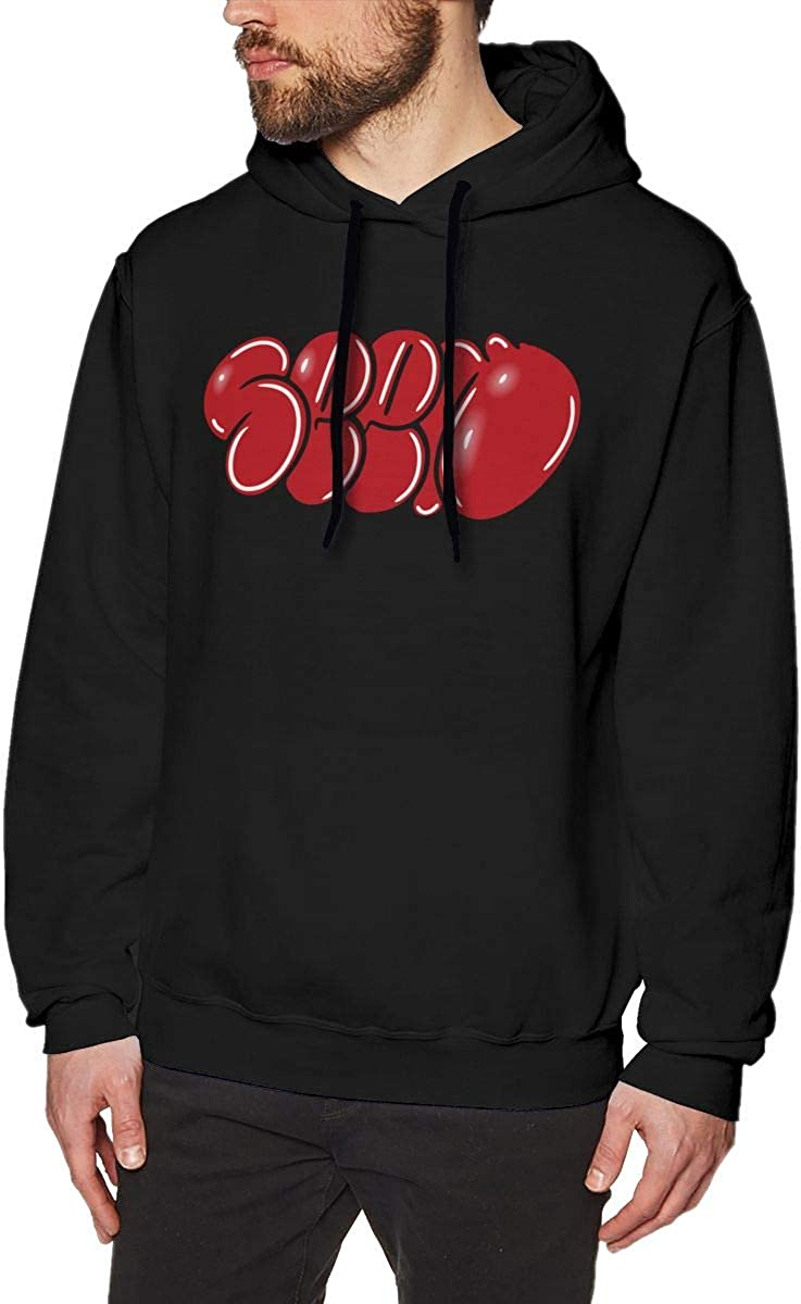 Graffiti Word S-g-ge Mens Hooded Sweatshirt Long Sleeve Fleece Pullover Drawstring Classic