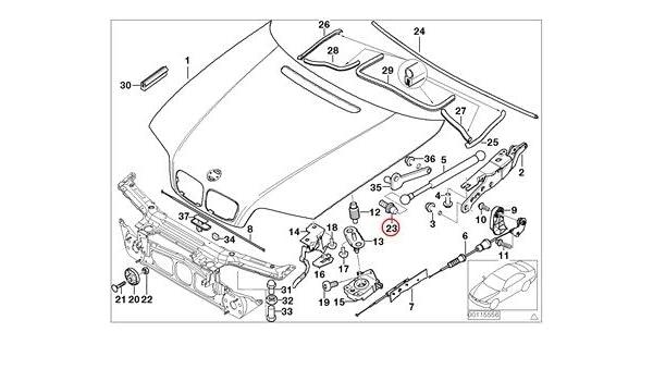 2 X BMW Genuine Body-Side Frame Engine Hood Mounting Parts Ball Pin M8X13.5MM 740i 740iL 740iLP 750iL 750iLP 525i 528i 530i 540i 540iP M5 320i 323Ci 323i 325Ci 325i 325xi 328Ci 328i 330Ci 330i 330xi M3 X5 3.0i X5 4.4i X5 4.6is X5 4.8is 745i 750i 760i ALPIN